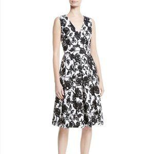 Michael Kors Black Floral-print Dress